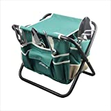 haoyin Garden Tools Sets- Heavy Duty Gardening Gift Tool Kit Including Folding Stool with Tool Bag 5 Sturdy Stainless Steel Tools with Wooden Handles for Women Men Photo, best price $30.37 new 2019