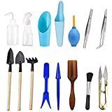 Wesdxc 15 Pieces Succulent Plants Tools, Mini Garden Hand Tools Transplanting Tools Miniature Planting Gardening Tool Set for Indoor Miniature Fairy Garden Plant Care Photo, best price $10.19 new 2019