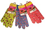 G & F 1823-3 JustForKids Soft Jersey Kids Garden Gloves, Kids Work Gloves, 3 Pairs Green/Red/Blue per Pack Photo, best price $10.76 new 2018