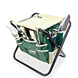 GardenHOME Gardening Tools Set - 7 Picec All In One garden tools - 5 Sturdy Stainless Steel Tools, Heavy Duty Folding Stool, Detachable Canvas Tool Bag, Gardening Gifts for Men and Women Photo, best price $42.99 new 2019