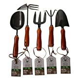 Unity 5-Piece Premium Medium Duty Garden Tool Set - Ergonomic Wooden Handles - Anti-Rust - Strong And Durable - Garden Tested Photo, best price $13.97 new 2020
