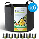 WINNER OUTFITTERS 6-Pack 10 Gallon Grow Bags/Aeration Fabric Pots With Handles Photo, best price $30.00 new 2018