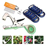 KingSo Tying Machine for Plant and Garden Plant Tapetool Tapener With 12 Rolls Tape Set for Vegetable, Grape, Tomato,Cucumber, Pepper and Flower Photo, best price $65.76 new 2018