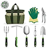Garden Tools Set Gardening Kits Stainless Steel Heavy Duty Gifts for Men Women Including Gloves Tote and Pruning shears Photo, best price $79.99 new 2019